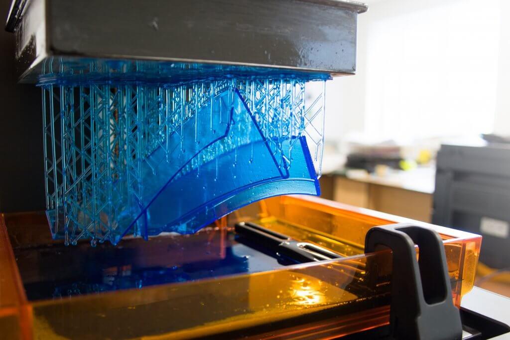 Big print on an SLA-machine