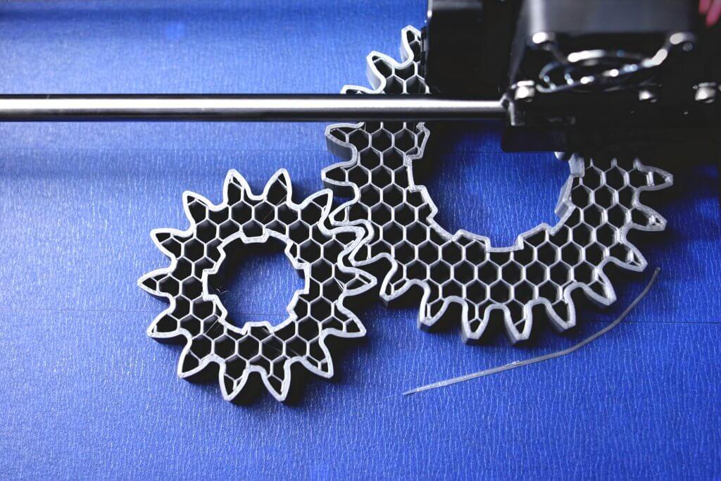 FDM 3D-printer manufacturing spur gears